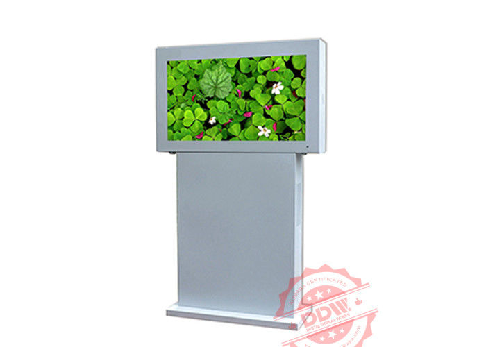 50 Inch Tft Type Stand Alone Outside Digital Signage Totem 1920x1080 Resolution