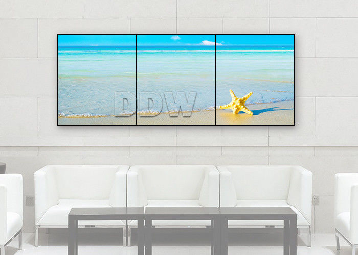 1x3 Lcd Control Room Video Wall 55 Inch Thin Bezel TV High Contrast RS232 Control