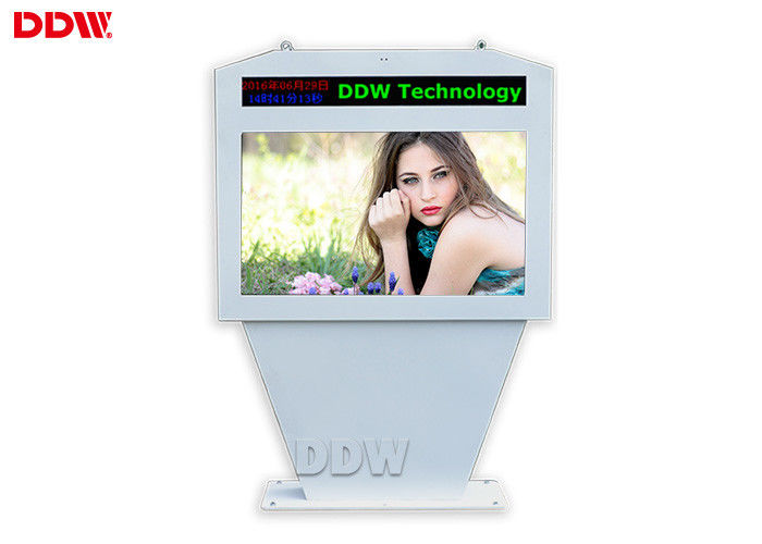 98 Inch Outdoor Digital Signage Kiosk , Lcd Advertising Player 1920x1080 DDW-AD9801S