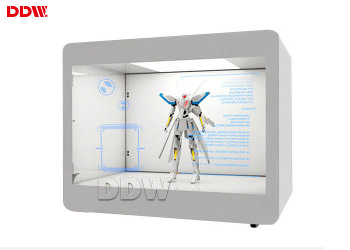220V Power Transparent LCD Display 65 Inch 500-700 Nits Brightness 16.7 Color